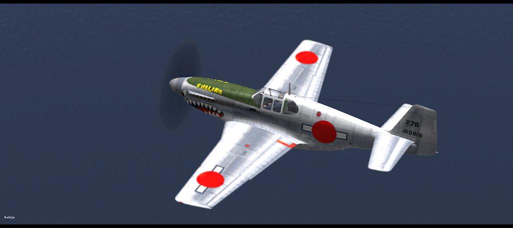 prototype P-51B-NA EVALINA nr°278, serial 44-10816